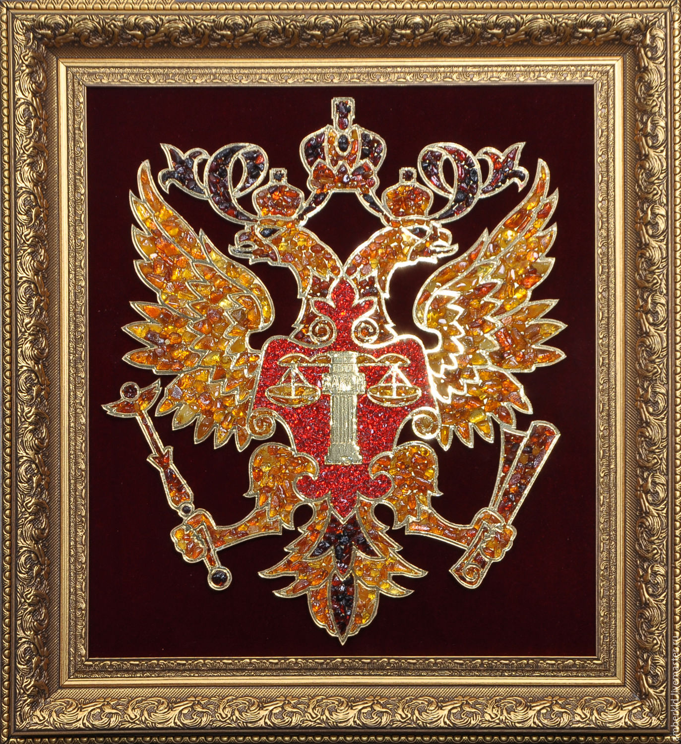 the coat of arms of the judicial department from amber, Fine art photographs, Kaliningrad,  Фото №1