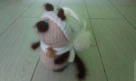 Игрушки животные, ручной работы. Ярмарка Мастеров - ручная работа. Купить Котик Сим (вязаный кот). Handmade. Бежевый, пушистик