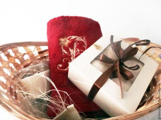 Подарочные наборы косметики ручной работы. Ярмарка Мастеров - ручная работа. Купить Подарочный набор на заказ. Handmade. Бордовый
