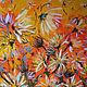 """""""Хризантемы"""" 80х80 см большая картина маслом мастихином, Картины, Санкт-Петербург,  Фото №1"""
