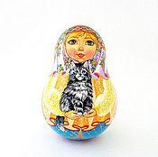 Куклы и игрушки handmade. Livemaster - original item Music russian doll Nevalyashka, roly-poly ringing matryoshka. Handmade.
