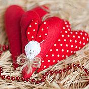 Подарки к праздникам ручной работы. Ярмарка Мастеров - ручная работа Тильда сердце, Валентинки, Сердце-валентинка. Handmade.