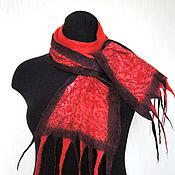 Аксессуары ручной работы. Ярмарка Мастеров - ручная работа Осенний Нуно-войлочный шарфик. Handmade.