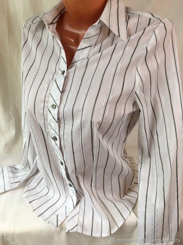 Винтаж: Винтажная одежда: Рубашка в вертикальную полоску, Поло, Москва,  Фото №1