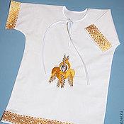 Работы для детей, handmade. Livemaster - original item Baptismal shirt