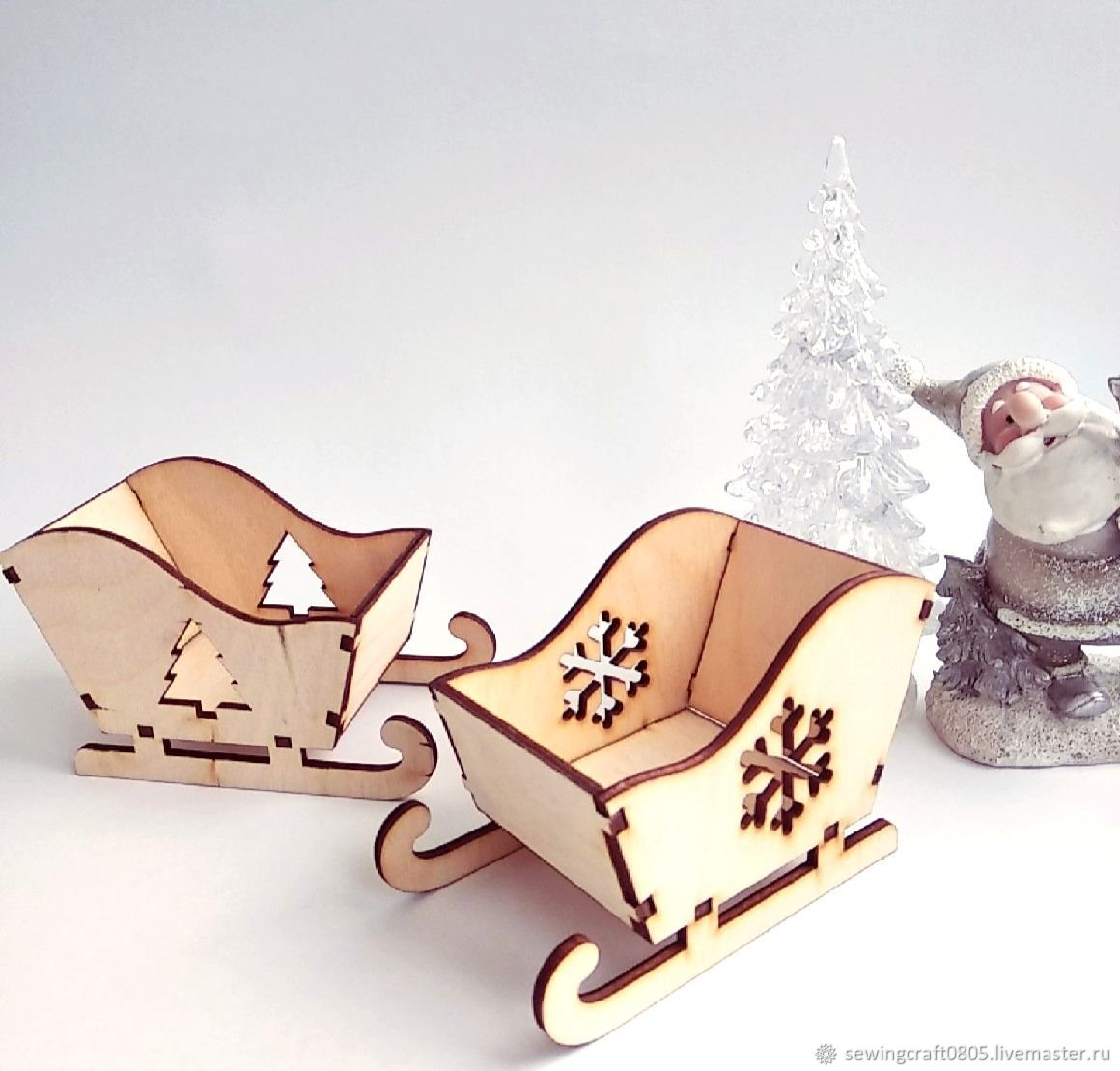 New year's sledge 2 types 11 cm, Blanks for dolls and toys, St. Petersburg,  Фото №1