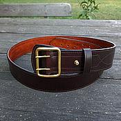 Аксессуары handmade. Livemaster - original item Leather belt belt mod.Komandir Eco. Handmade.