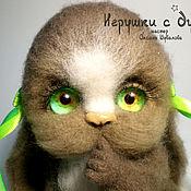 Куклы и игрушки handmade. Livemaster - original item Bunny Lapushka (repeat), felted toy. Handmade.