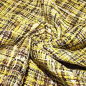 Материалы для творчества ручной работы. Ярмарка Мастеров - ручная работа Букле  хлопковое CHANEL  желто-серое. Handmade.