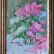 Картины и панно ручной работы. Ярмарка Мастеров - ручная работа СИРЕНЬ. Handmade.