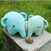 Куклы и игрушки ручной работы. Ярмарка Мастеров - ручная работа Вязаный слоник - игрушка. Handmade.