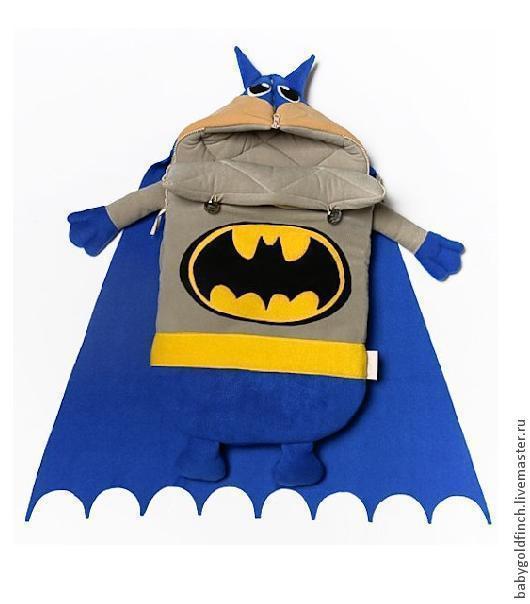 Для новорожденных, ручной работы. Ярмарка Мастеров - ручная работа. Купить Конверт для новорожденного на выписку и в коляску Бэтмен. Handmade. Детский