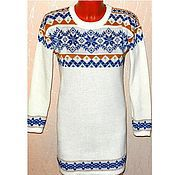 Одежда handmade. Livemaster - original item Knitted tunic with a Norwegian ornament snowflake. Handmade.