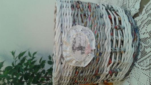 Корзины, коробы ручной работы. Ярмарка Мастеров - ручная работа. Купить кашпо декоративное. Handmade. Серый, плетение из бумажной лозы