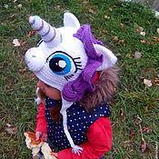 Работы для детей, ручной работы. Ярмарка Мастеров - ручная работа шапочка Рарити my little pony. Handmade.