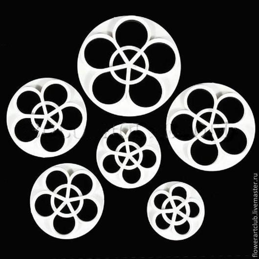 Материалы для флористики ручной работы. Ярмарка Мастеров - ручная работа. Купить Пятилистники для создания роз и других цветов - 6 размеров. Handmade.