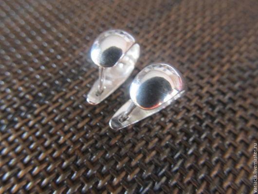 Серьги ручной работы. Ярмарка Мастеров - ручная работа. Купить Серьги серебряные круглые большие без камня. Handmade. Серебряный