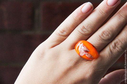 Винтажные украшения. Ярмарка Мастеров - ручная работа. Купить Кольцо FRANCE мурано винтаж 70-е годы. Handmade. Оранжевый