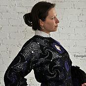 Одежда ручной работы. Ярмарка Мастеров - ручная работа Ажурная вязаная блузка «Вечер» с вязаной сумочкой Авторские работы. Handmade.