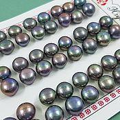 Материалы для творчества handmade. Livemaster - original item Pair of natural semi-drilled 8mm AA pearls (2903-T). Handmade.