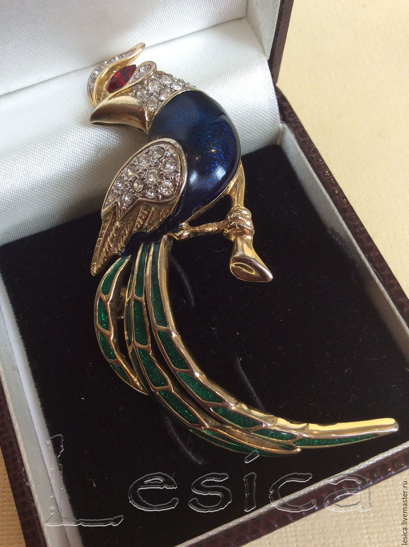 Brooch bird of Paradise England vintage, Vintage brooches, Ramenskoye,  Фото №1