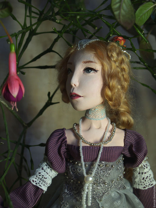 Коллекционные куклы ручной работы. Ярмарка Мастеров - ручная работа. Купить Лиза. Handmade. Будуарная кукла, кукла интерьерная