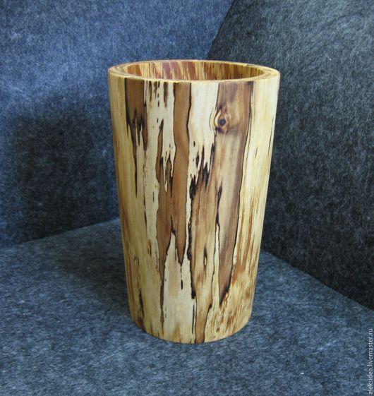 Вазы ручной работы. Ярмарка Мастеров - ручная работа. Купить Ваза деревянная Яблоня.. Handmade. Коричневый, ваза для сухоцветов