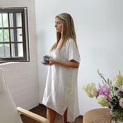 Одежда handmade. Livemaster - original item Linen tunic. Beach tunic. 100% linen. Softened.. Handmade.