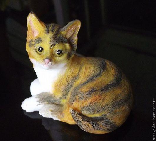 """Мыло ручной работы. Ярмарка Мастеров - ручная работа. Купить Мыло """"Полосатый кот"""". Handmade. Кот, необычный подарок"""