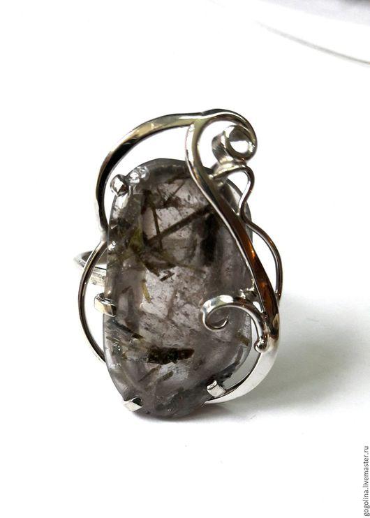 Кольца ручной работы. Ярмарка Мастеров - ручная работа. Купить Кольцо эпидот в кварце. Handmade. Серый, кольцо с кварцем, кварц
