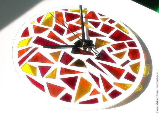 """Часы для дома ручной работы. Ярмарка Мастеров - ручная работа. Купить Часы настенные """"Солнечные зайчики"""". Handmade. Часы, желтый"""