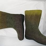 Обувь ручной работы. Ярмарка Мастеров - ручная работа валенки зелененькие. Handmade.