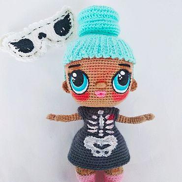 Кукла ЛОЛ амигуруми подарок LOL doll amigurumi gift