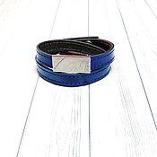 Украшения handmade. Livemaster - original item Lace bracelet: The bracelet is bright blue. Handmade.