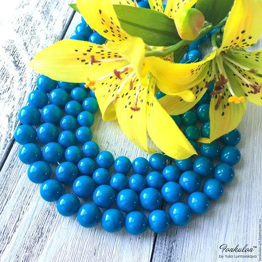 Для украшений ручной работы. Ярмарка Мастеров - ручная работа. Купить Жемчуг Майорка Темно-голубой бусины 8мм 10мм 12мм. Handmade.