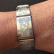 Винтаж ручной работы. Ярмарка Мастеров - ручная работа Европейская коллекция. Старинный браслет из серебра 900 пр. 40-е г.. Handmade.