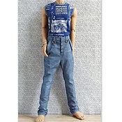 Куклы и игрушки ручной работы. Ярмарка Мастеров - ручная работа Одежда для кукол  БЖД джинсы-галифе,шорты,футболки для SID Iplehouse. Handmade.