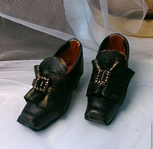 Одежда для кукол ручной работы. Ярмарка Мастеров - ручная работа. Купить Винтажные кукольные туфельки. Handmade. Черный, шарнирная кукла