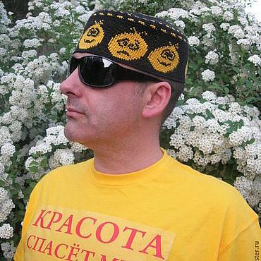 """Одежда ручной работы. Ярмарка Мастеров - ручная работа Летняя шапка  """"Смайлик"""". Handmade."""