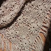 """Аксессуары ручной работы. Ярмарка Мастеров - ручная работа Шаль мотивами """"Душевная"""" ручной работы. Handmade."""