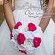 """Свадебные цветы ручной работы. Брошь - букет (brooch) для невесты """"Фуксия"""". Pour Moi (olgagorbacheva). Ярмарка Мастеров. Букет невесты"""
