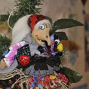 """Подарки к праздникам ручной работы. Ярмарка Мастеров - ручная работа """"Баба-Яга и ворона"""" ёлочная игрушка. Handmade."""