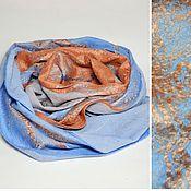 Шарфы ручной работы. Ярмарка Мастеров - ручная работа шарф валяный Orange sunset. Handmade.
