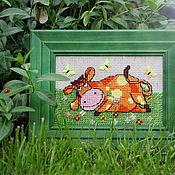 Сувениры и подарки handmade. Livemaster - original item Cream Burenka. Handmade.