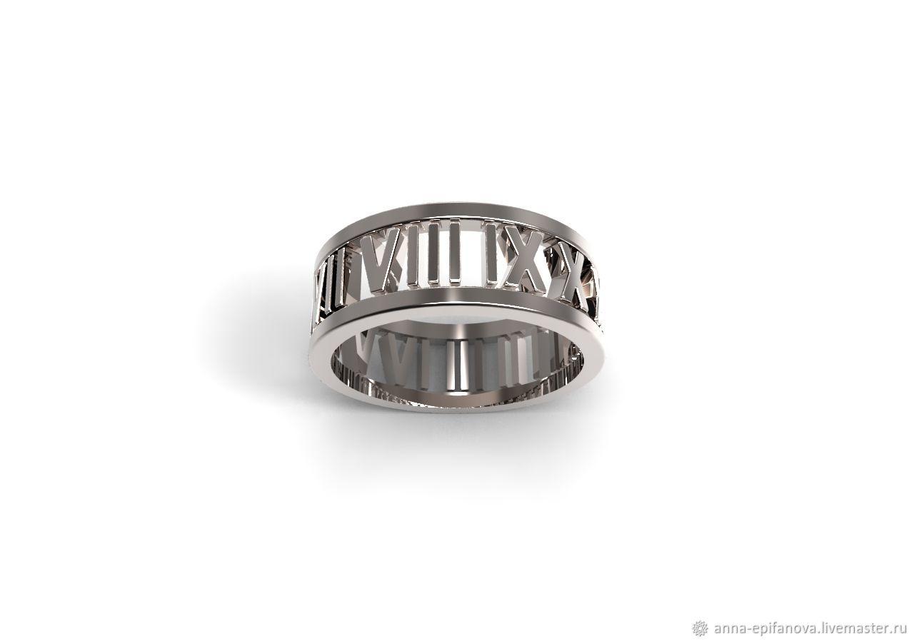 Silver ring with Roman numerals, Tiffany (K6), Rings, Chelyabinsk,  Фото №1