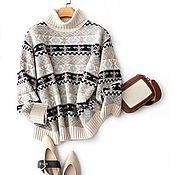 Одежда handmade. Livemaster - original item Cashmere patterned sweater. Handmade.