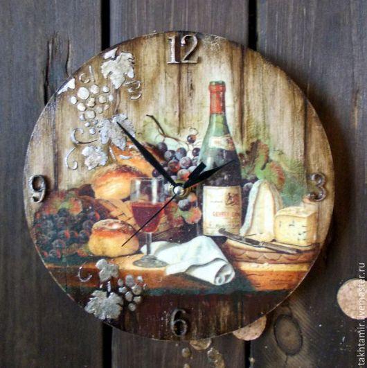 """Часы для дома ручной работы. Ярмарка Мастеров - ручная работа. Купить Часы  """"Мужские вина. Gevrey-Chambertin"""". Handmade. Комбинированный"""