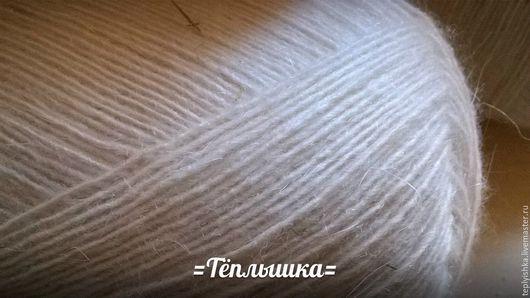 """Вязание ручной работы. Ярмарка Мастеров - ручная работа. Купить Пух козий тонкий для """"!паутинок"""". Handmade. Белый, пряжа для вязания"""