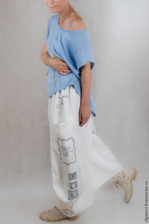 Белые юбки в стиле бохо
