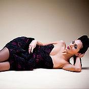"""Одежда ручной работы. Ярмарка Мастеров - ручная работа """"Черный Агат"""" платье коктейльное. Handmade."""
